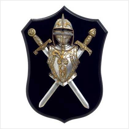 KNIGHTLY ARMOR WALL PLAQUE