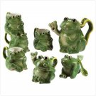 PORCELAIN FROG TEA SET
