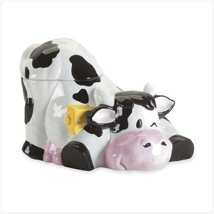 COW WITH BELL COOKIE JAR