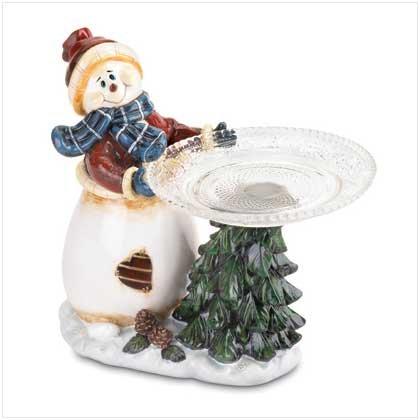 SNOWMAN TREE PLATE HOLDER