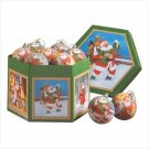 SANTA BALL ORNAMENT BOX SET