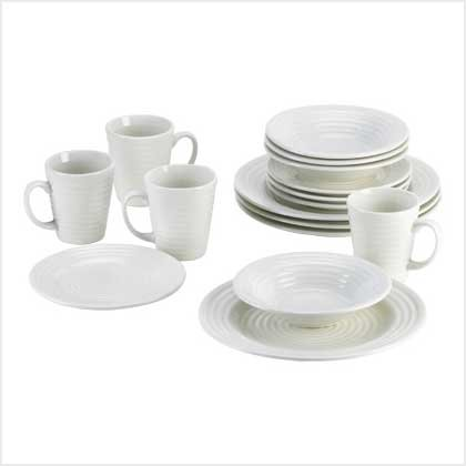 CREAM 16PC DINNERWARE SET