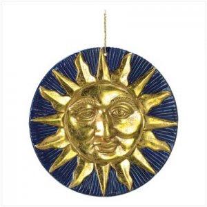 GOLDEN SUN TERRA COTTA WALL PLAQUE