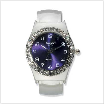 SILVER-PLATED CUFF WATCH