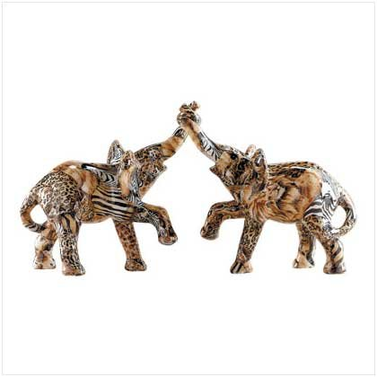 PATCHWORK ENTWINED ELEPHANTS