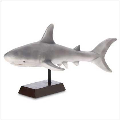 GREY SHARK FIGURINE
