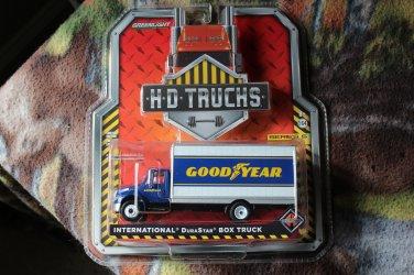 Greenlight HD Trucks International Durastar Box Truck Goodyear Tires Heavy Duty