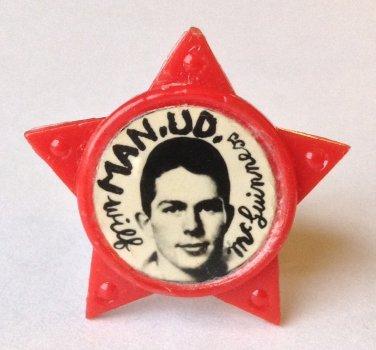 Wilf McGuinness Man Utd Vintage Star Badge
