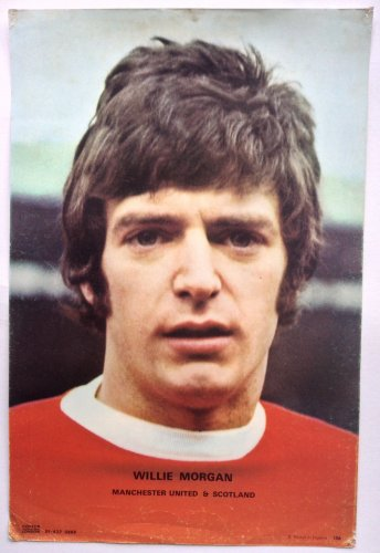 Willie Morgan 1970's Man Utd Coffer Poster