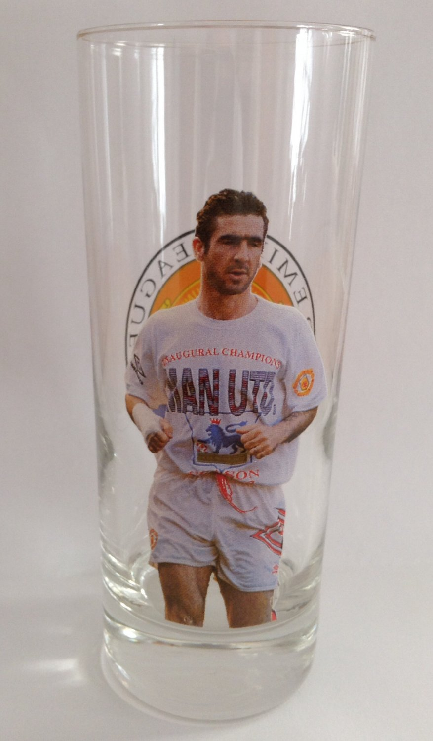 Eric Cantona Manchester United 1992-1993 Premier League Champions Glass