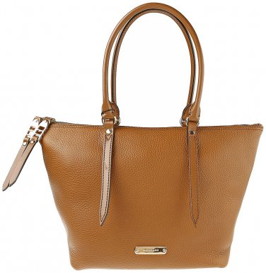Burberry Authentic Shoulder Handbag Small Grainy Leather Tote Bag - Mid Camel