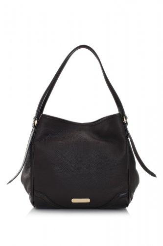 Burberry Authentic Handbag Leather Small Canterbury Tote Bag - Dark Chocolate