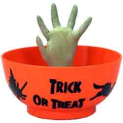 Halloween Animated Candy Bowl (Orange)