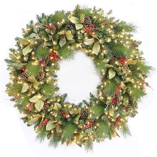 "60"" Pre-Lit Christmas Holiday Wreath"