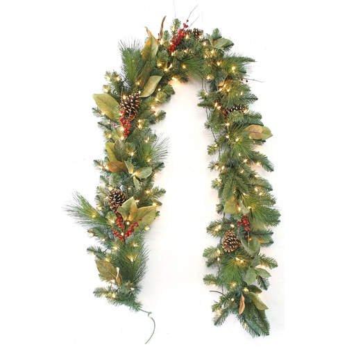 3 pcs. of 9' Pre-Lit Christmas Holiday Garland