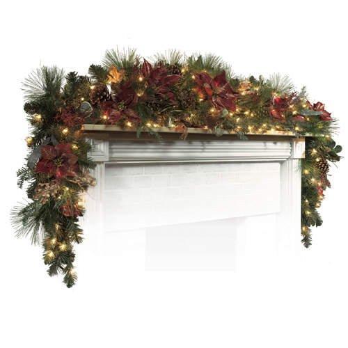 Christmas Holiday 9' Mantle Garland Swag