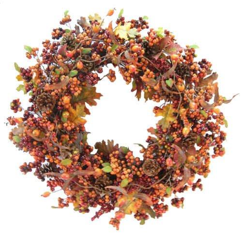 """Halloween / Autumn Harvest Wreath (26"""")"""