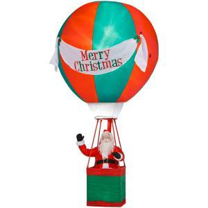 Holiday Airblown Inflatable - Santa in Lighted Hot Air Balloon  (A Giant 15 ft.)