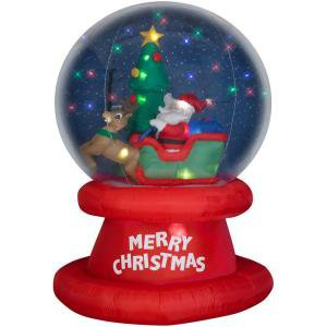 Christmas Holiday AIrblown Inflatable - Santa and Sleigh SnowGlobe  (6 ft.)
