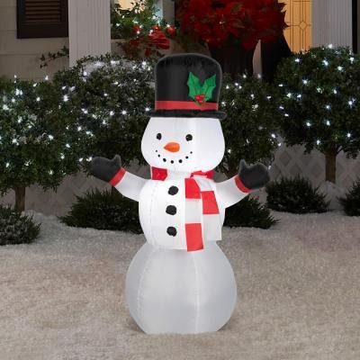 Christmas Holiday Airblown Inflatable - Lighted Snowman