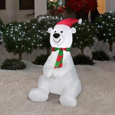 Christmas Airblown Inflatable - Holiday Polar Bear