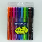 STAEDTLER BALL BALLPOINT 432 M TRIANGULAR SHAPE 10 COLOR 0.45 MM SKETCHING FN