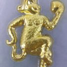 REAL A GRADE JADE & 24K GOLD MONKEY WITH CERTIFICATE NECKLACES PENDANT اليشم