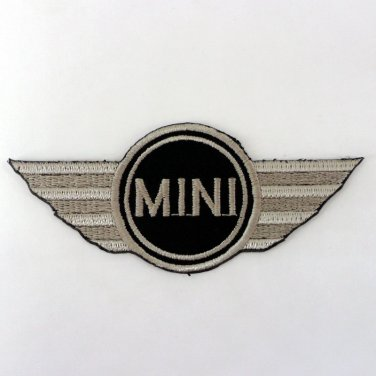 MINI COOPER IRON ON PATCHES RACING SPORT CAR CLASSIC EMBROIDERED LOGO SEW FN
