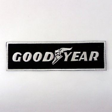 GOODYEAR TYRE IRON ON PATCHES MOTOR RACING SPORT EMBROIDERED APPLIQUES SEW FN