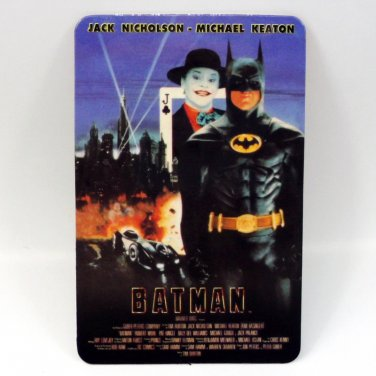 BATMAN CALENDAR CARD 2001 MOVIE CINEMA JACK NICHOLSON MICHAEL KEATON FN
