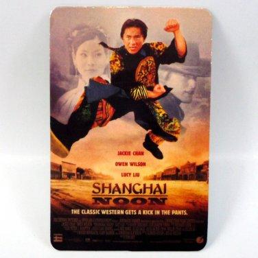 SHANGHAI NOON CALENDAR CARD 2001 MOVIE CINEMA JACKIE CHAN OWEN WILSON FN