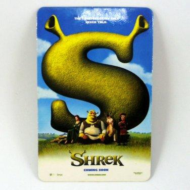 SHREK CALENDAR CARD 2002 MOVIE CINEMA THE GRESTEST FAIRY TALE NEVER TOLD FN