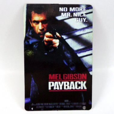 PAYBACK CALENDAR CARD 1999 MOVIE CINEMA MEL GIBSON NO MORE MR. NICE GUY FN
