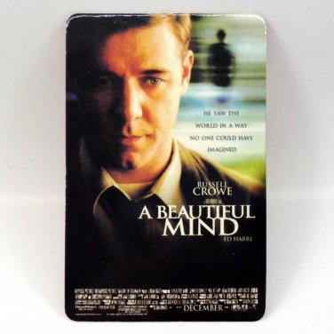 A BEAUTIFUL MIND CALENDAR CARD 2002 MOVIE CINEMA RUSSELL CROWE ED HARRI FN