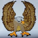 LARGE EAGLE IRON ON PATCHES 10X11 INCH BIKER MOTORBIKE EMBROIDERED RIDING SEW FN