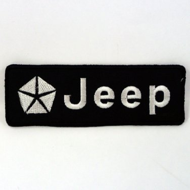 JEEP IRON ON PATCHES DECORATE EMBROIDERED RACING SPORT CAR SEW MOTOR LOGO FN
