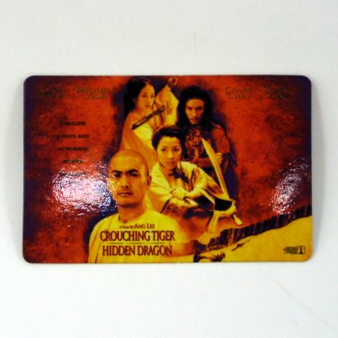 CROUCHING TIGER HIDDEN DRAGON CALENDAR CARD 2001 MOVIE CINEMA CHOW YUN FAT FN