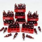 COKE COLA COCA LOT 9 PCS MINIATURE DOLLHOUSE 3D FOOD SODA BOTTLE REMOVABLE FT