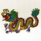 CHINESE DRAGON IRON ON PATCHES EMBROIDERED SEW APPLIQUE BADGE COLORFUL FN