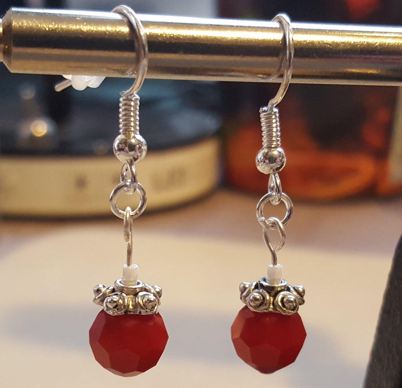 Red and Silver Swarovski Pair