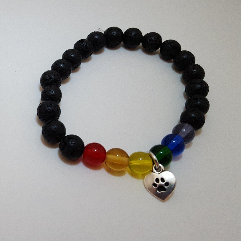 Rainbow Bridge Memory Bracelet Dog - SIlver