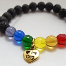 Rainbow Bridge Memory Bracelet Dog - GOLD