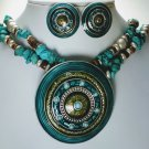 Chunky Circle Necklace Set