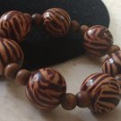 Animal Print Wooden Bead Bracelet