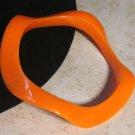 Orange Wavy Bracelet