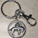 Western Cowgirl Rodeo Keychain