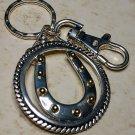 Western Horseshoe Keychain