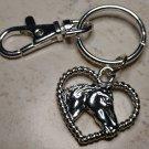 Western Horses Heart Keychain