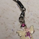 Pink Ribbon Breast Cancer Awareness Keychain Charm