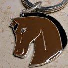 Brown Western Horse Keychain